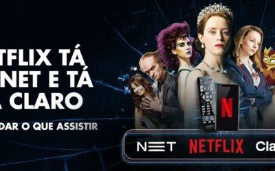 NET e a Claro anunciam o novo canal da oferta de TV: e esse canal é nada menos do que a Netflix. Mais um Case Spread!